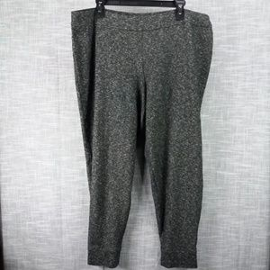 Eileen The Fisher Project Gray Marl Ankle Pants XL